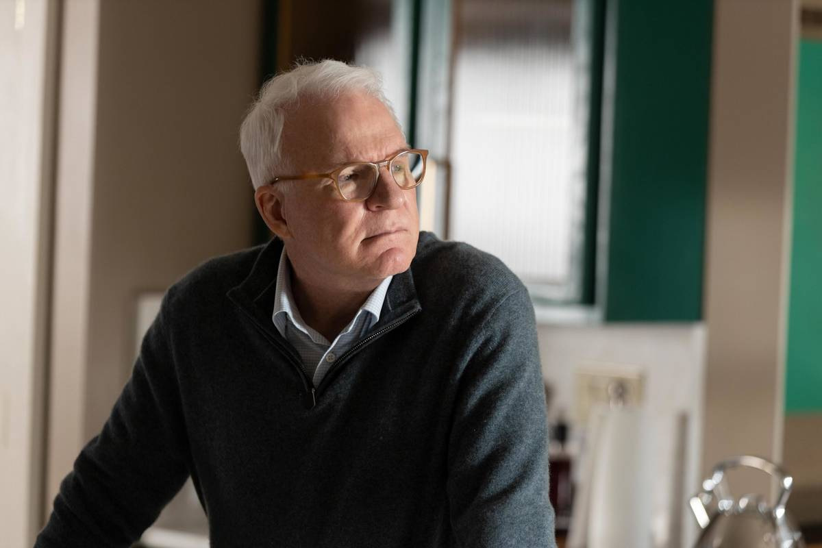 """Steve Martin stars in """"Only Murders In The Building,"""" which debuts Aug. 31 on Hulu. (Craig Blan ..."""