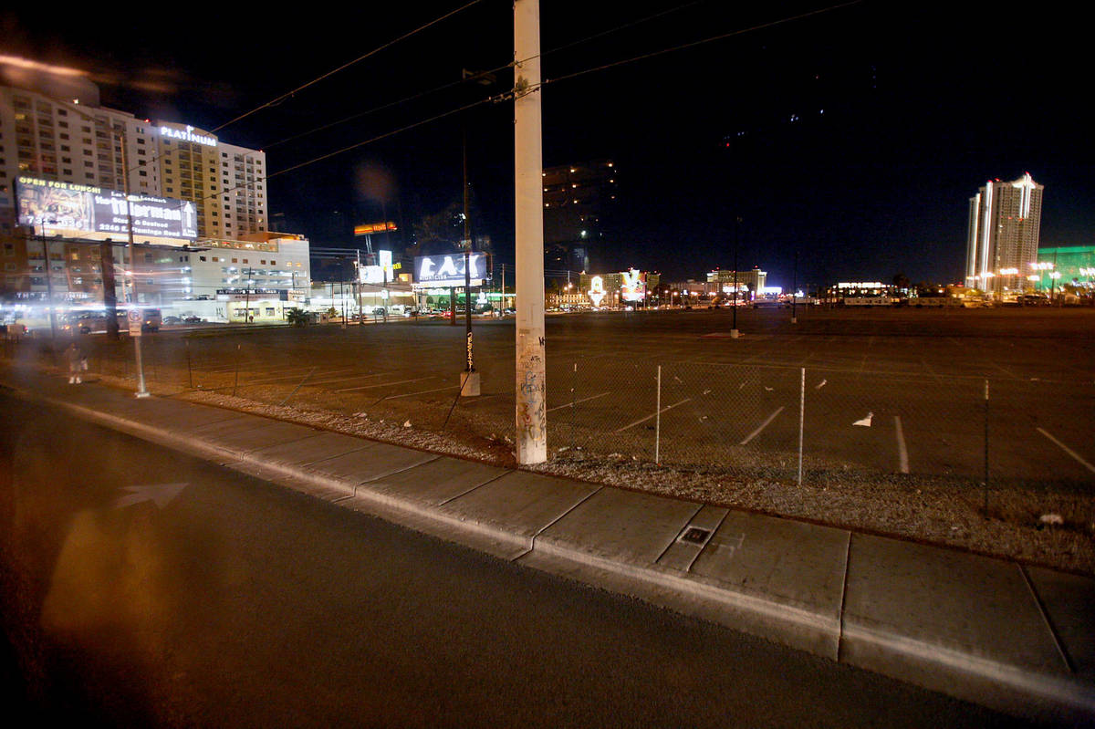 The location where rapper Tupac Shakur's was murdered in seen in a photo from Oct 2007. (Louie ...