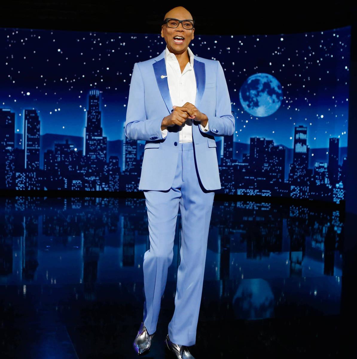 "Drag icon RuPaul is shown co-hosting ""Jimmy Kimmel Live"" on Thursday, Aug. 26, 2021. (ABC/Randy ..."
