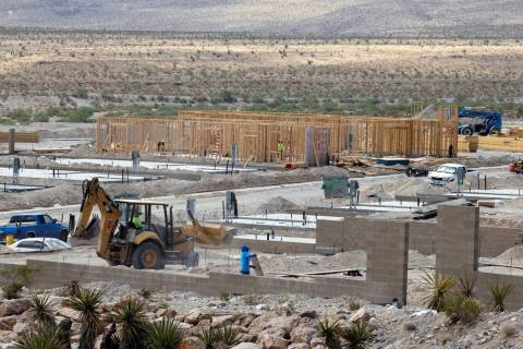 Construction is underway on a new 55-and-over community by homebuilder Lennar Corp., on Crossbr ...