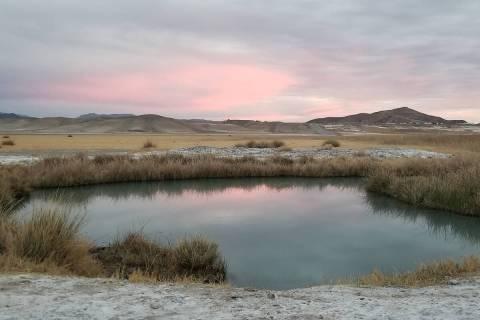 Soak amid the severe splendor of the Mojave Desert in the springs near Tecopa, Calif. (Sarah Ja ...