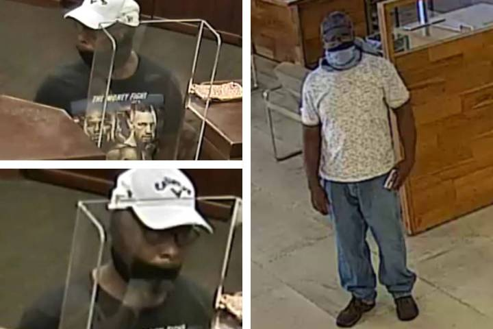Police are seeking this man who they say committed two bank robberies within days of each other ...