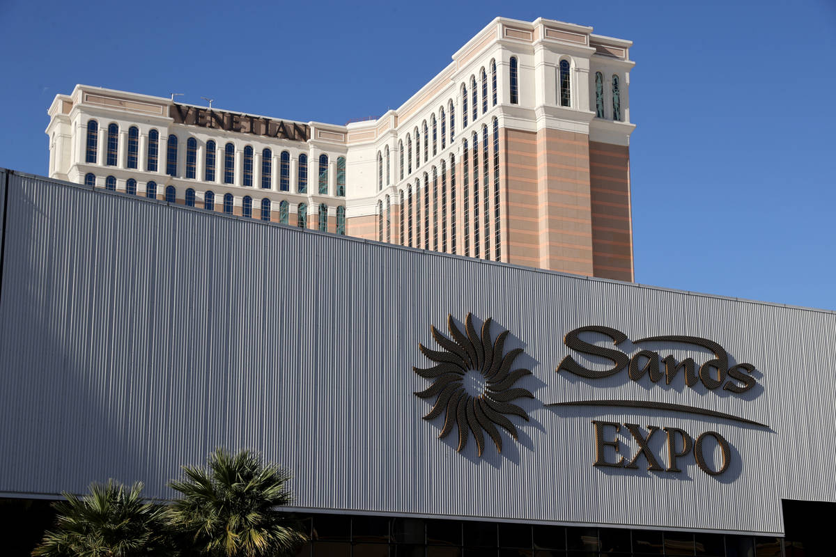 The Venetian and Sands Expo on the Strip in Las Vegas Wednesday, March 3, 2021. Las Vegas Sands ...