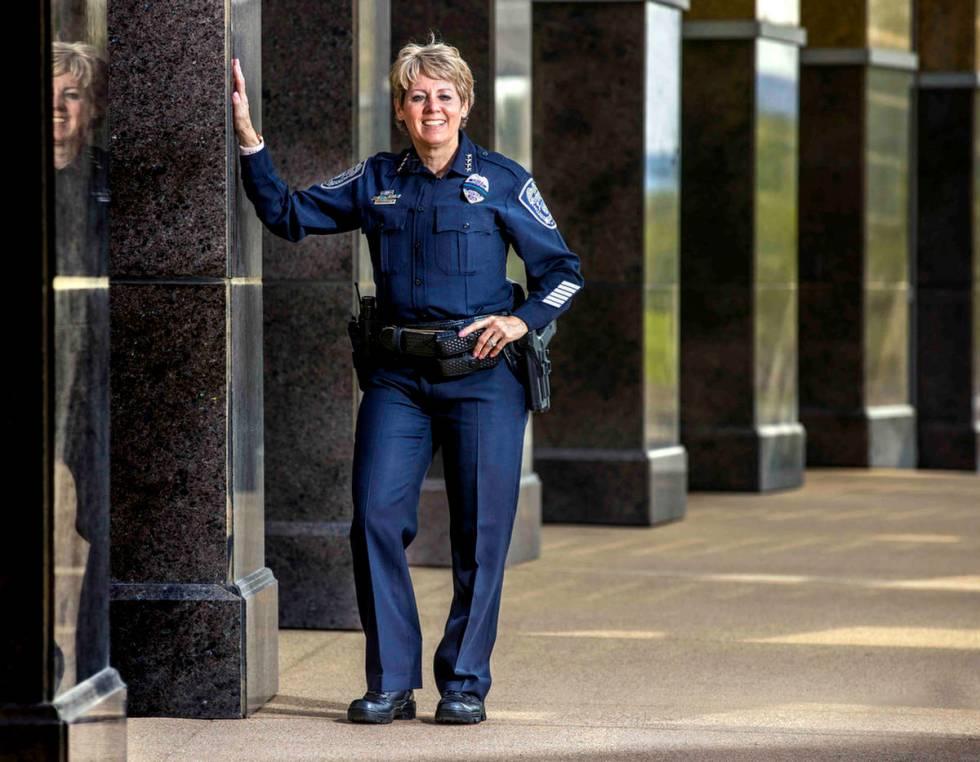 North Las Vegas Police Chief Pamela Ojeda at City Hall on Thursday, Aug. 12, 2021, in North Las ...