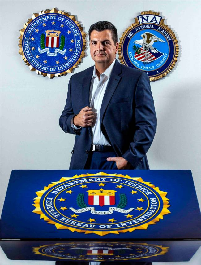 Special agent Daniel Leon on Wednesday, Aug. 18, 2021, at the Las Vegas FBI field office. (L.E. ...