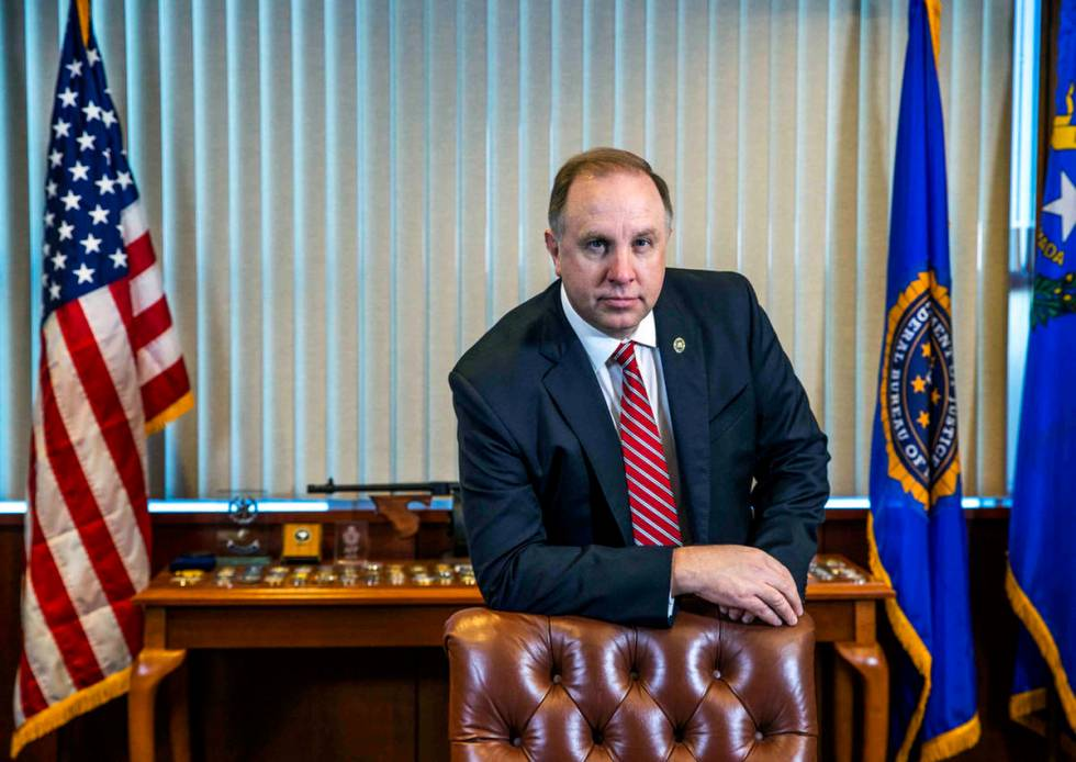 Aaron Rouse, the special agent in charge of the Las Vegas FBI division, is pictured in his offi ...