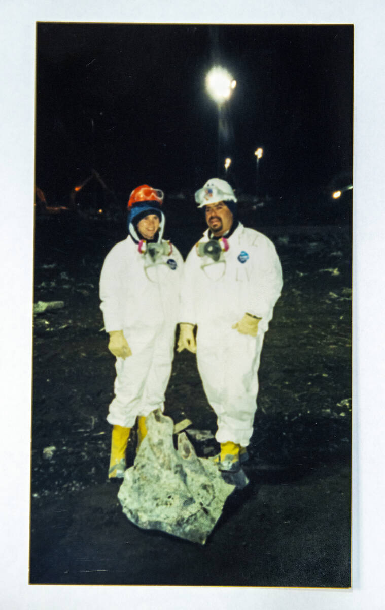 Images taken by FBI Special Agent Tracy Dockery, left, while working to sort 9/11 debris from G ...