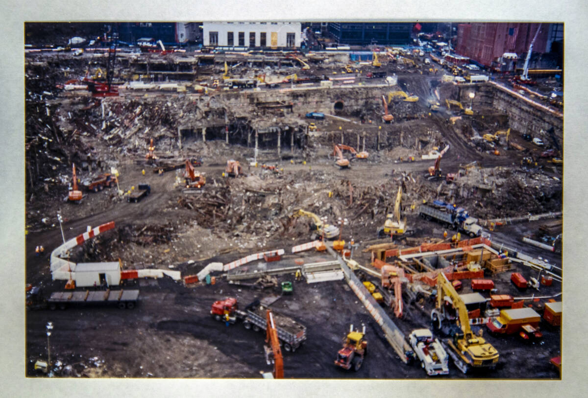 Images taken by FBI Special Agent Tracy Dockery while as 9/11 debris from Ground Zero is truck ...