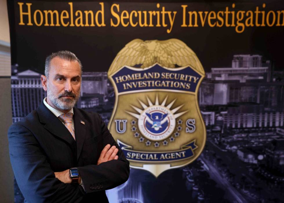 J.T. Stevens, Homeland Security Investigations assistant special agent in charge, at HSI office ...