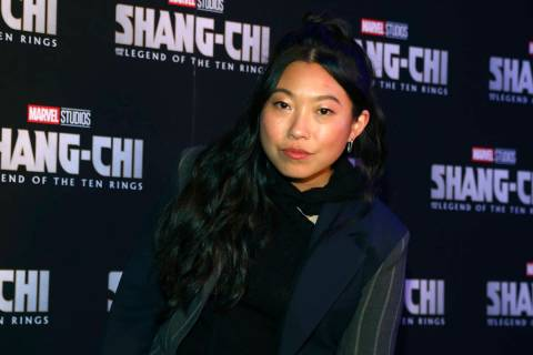 """Awkwafina arrives at a screening of """"Shang-Chi and The Legend of The Ten Rings"""" at Regal Union ..."""
