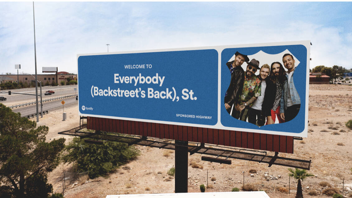 Backstreet Boys, coming to Zappos Theater in November, is being featured on a nationwide highwa ...