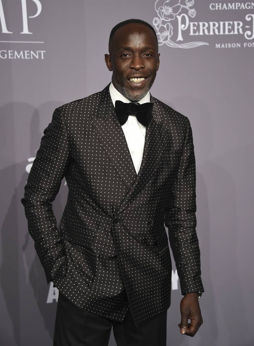 FILE - In this Wednesday, Feb. 7, 2018, file photo, Michael K. Williams attends the Fashion Wee ...