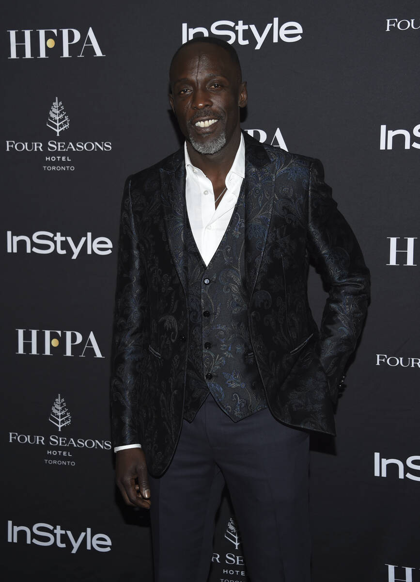 FILE - In this Saturday, Sept. 8, 2018, file photo, actor Michael K. Williams attends the Holly ...