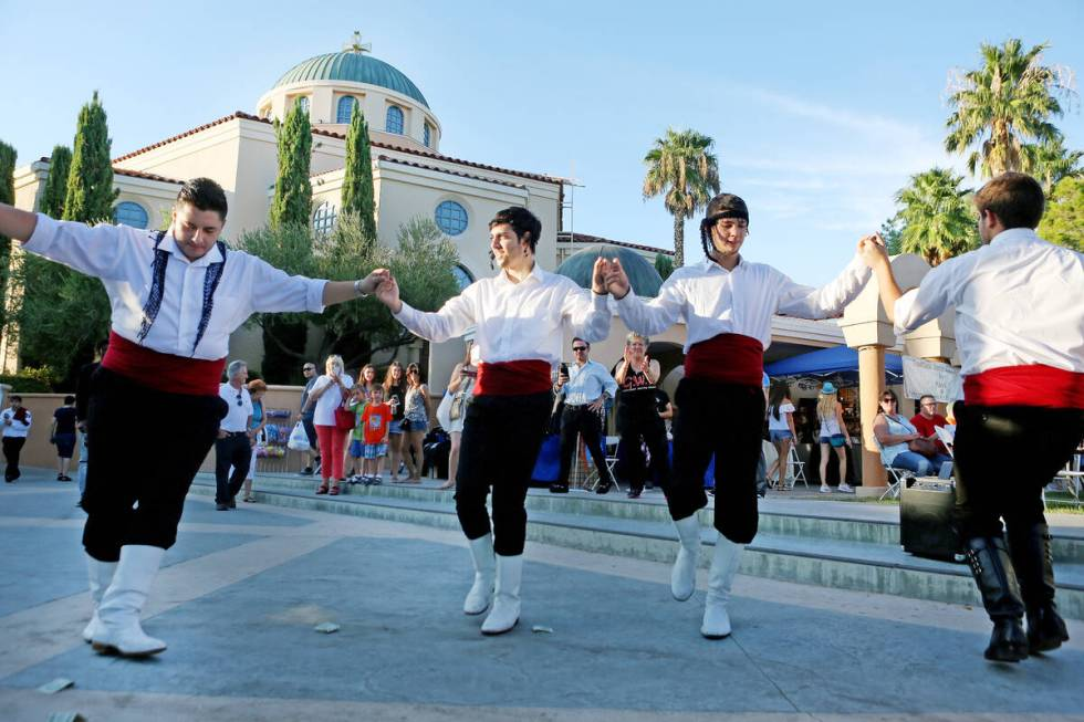 Greek Pride Dancers perform during the 45th annual Greek Food Fest at St. John the Baptist Gree ...