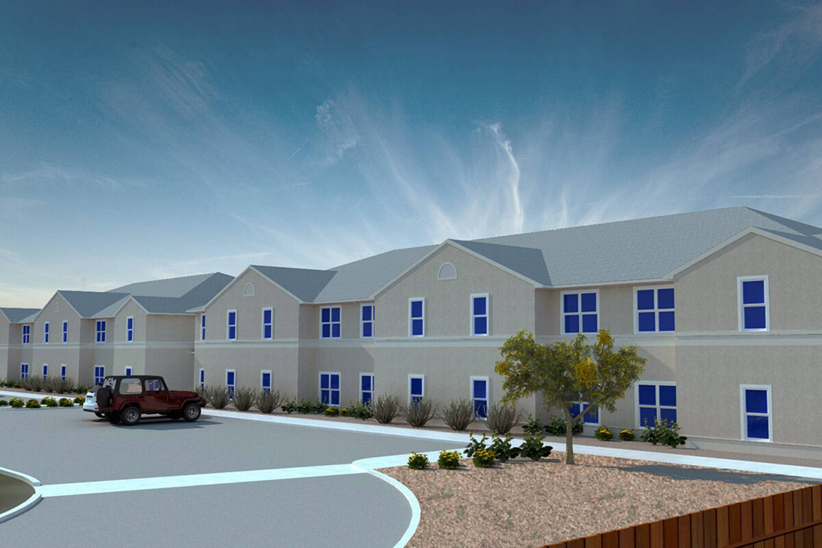 A drawing of Desert Oasis II, an affordable senior housing development expected to open fall 20 ...