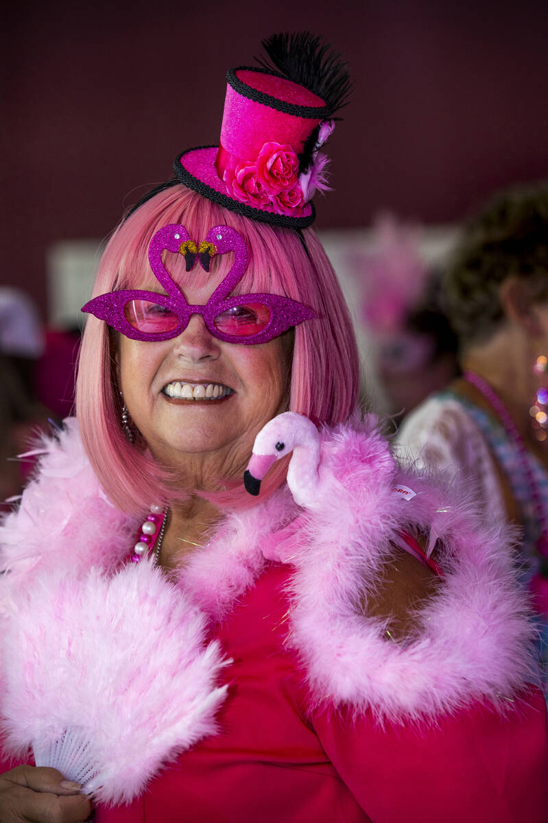 Linda Sullivan of Flint, Michigan, is all dressed up during a costume contest at the 1st Annual ...