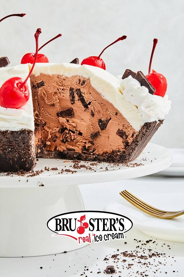A ChocChunk ice cream pie from Bruster's. (Bruster's Ice Cream)