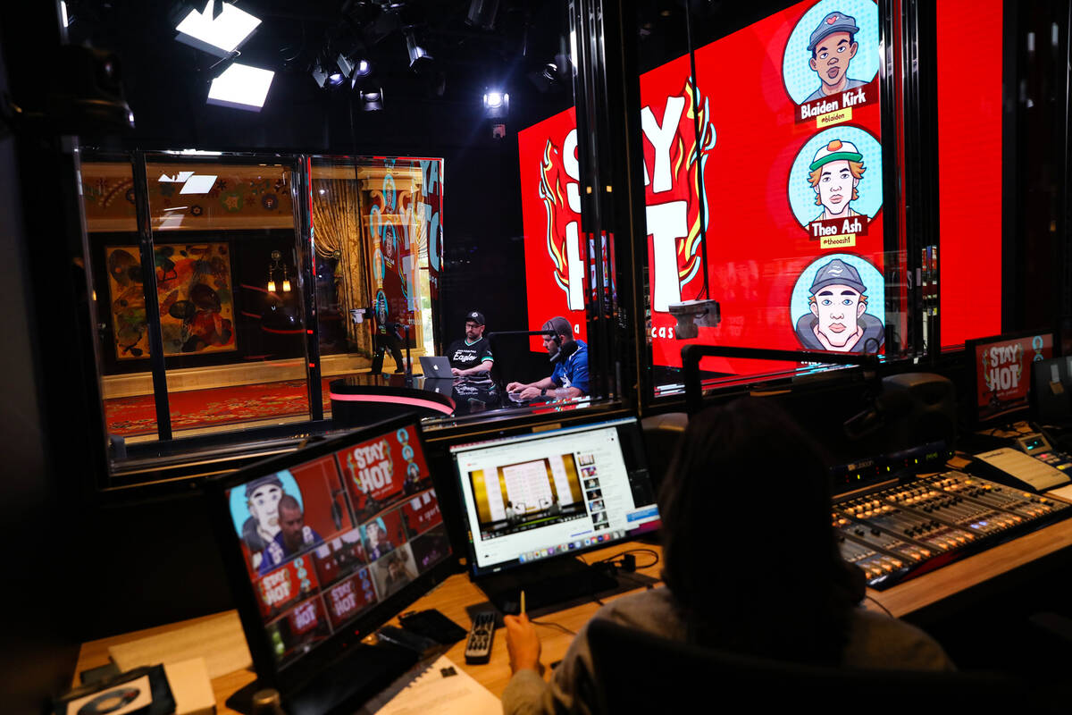 Blue Wire Studios at Wynn Las Vegas, Thursday, Sept. 9, 2021. WynnBET, Wynn Resorts' mobile spo ...