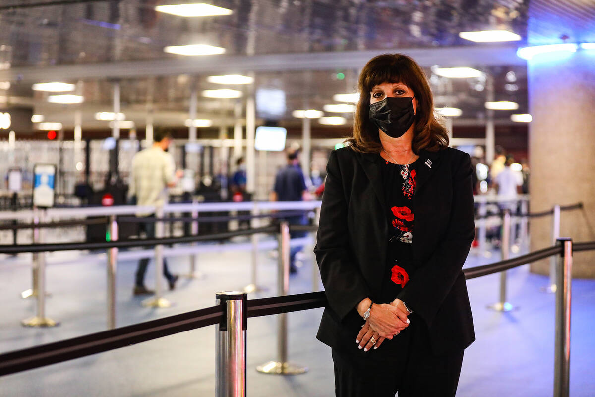 Rosemary Vassiliadis, director of aviation for McCarran International Airport, on Tuesday, Aug. ...