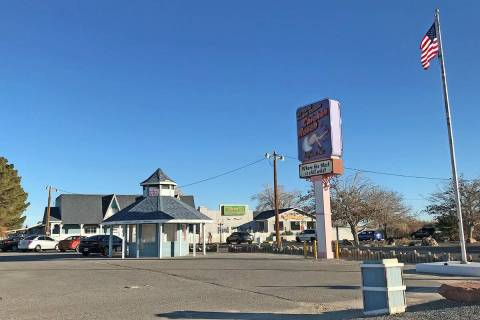 The Chicken Ranch Brothel in Pahrump, seen in 2019. (Pahrump Valley Times)
