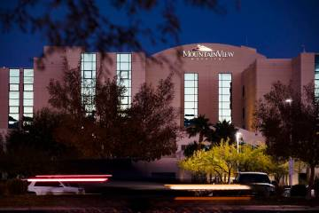 MountainView Hospital in Las Vegas. Data from early September shows that staffed beds were more ...