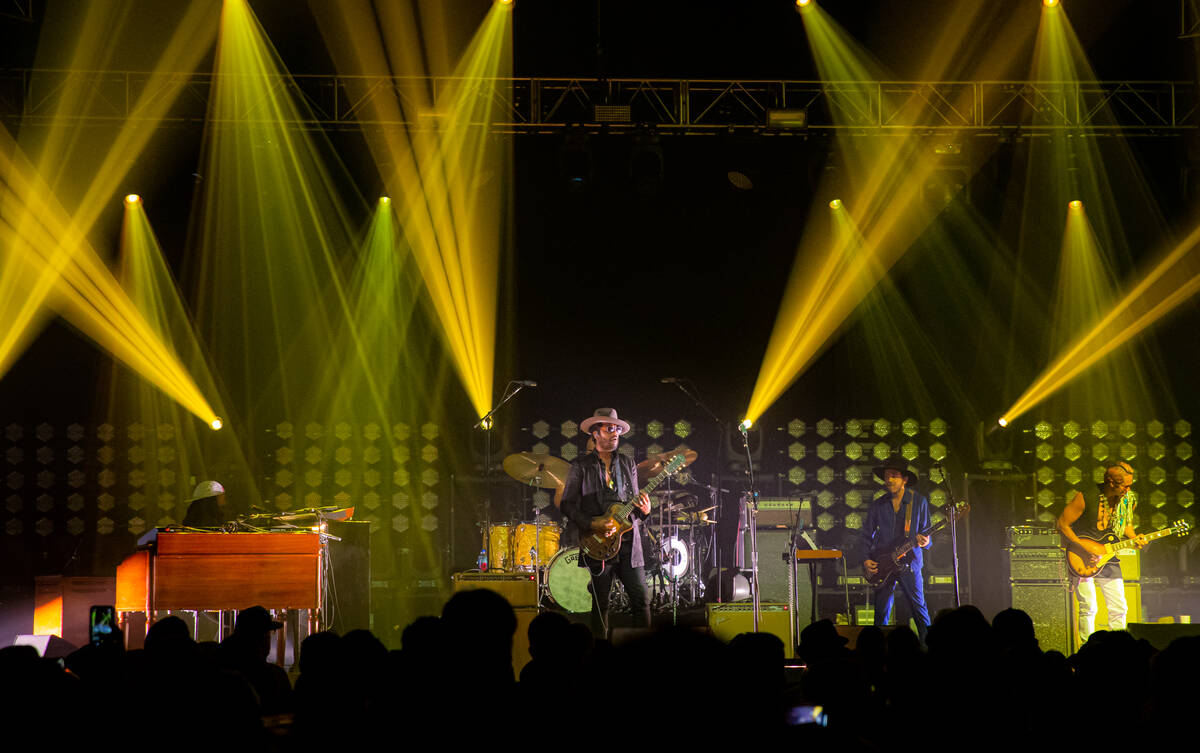 Gary Clark Jr. is shown at the Theater at Virgin Hotels Las Vegas on Saturday, Sept. 11, 2021. ...