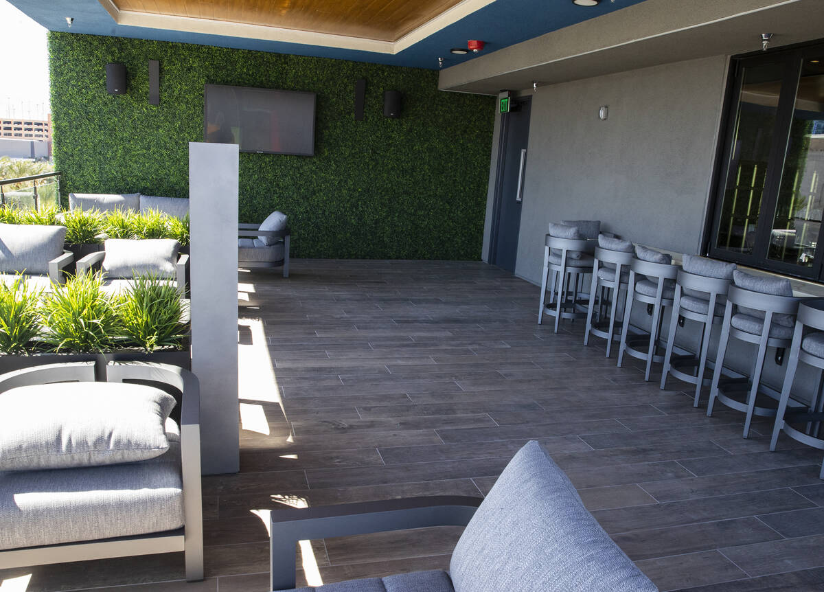 The residents lounge at Auric Symphony Park, the first luxury multifamily residential community ...