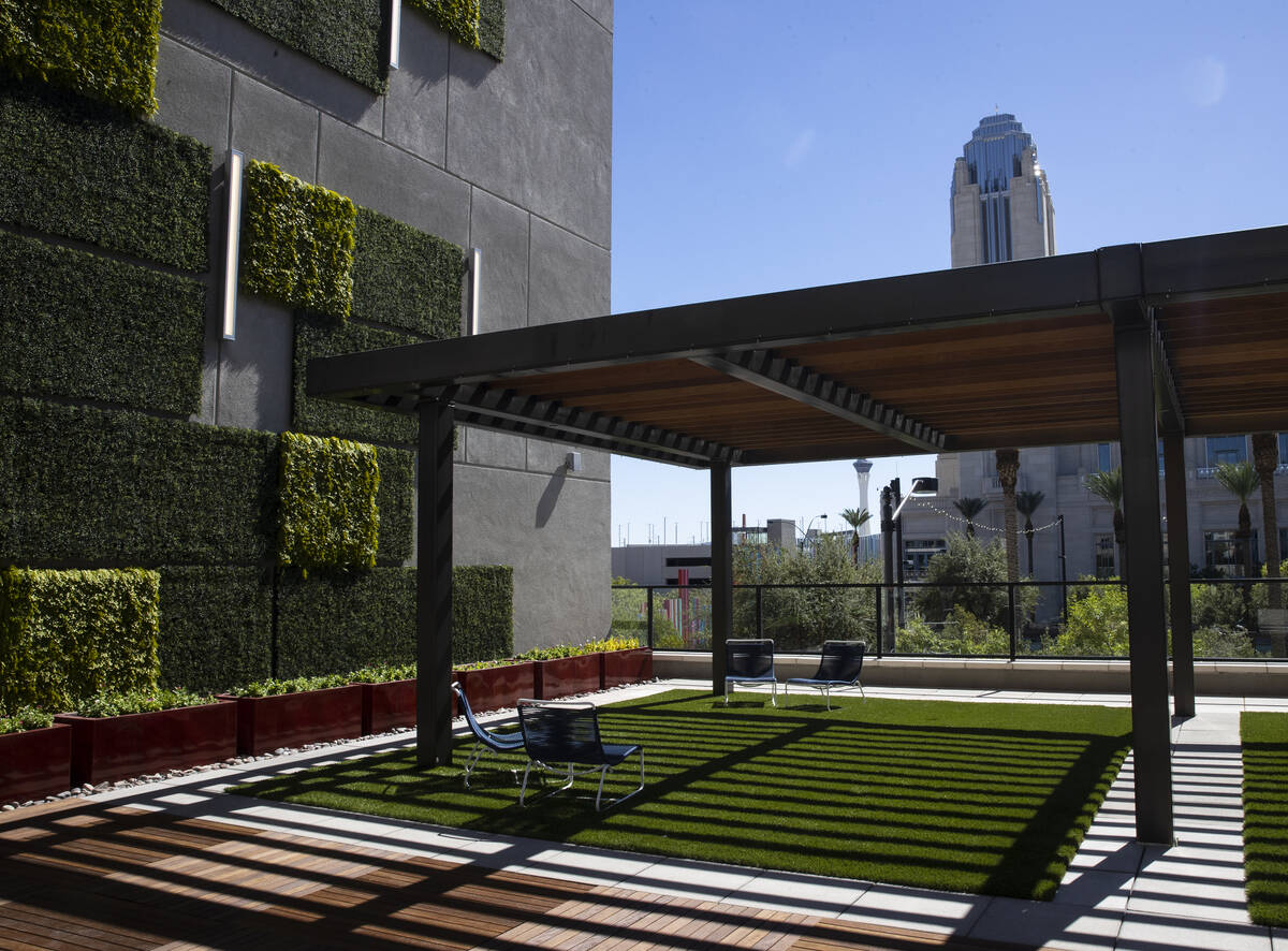 Symphony Park is seen from the second label terrace at Auric Symphony Park, the first luxury mu ...