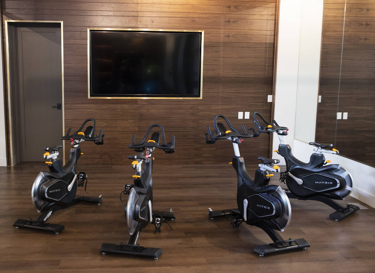 Spinning room at Auric Symphony Park, the first luxury multifamily residential community at Sym ...