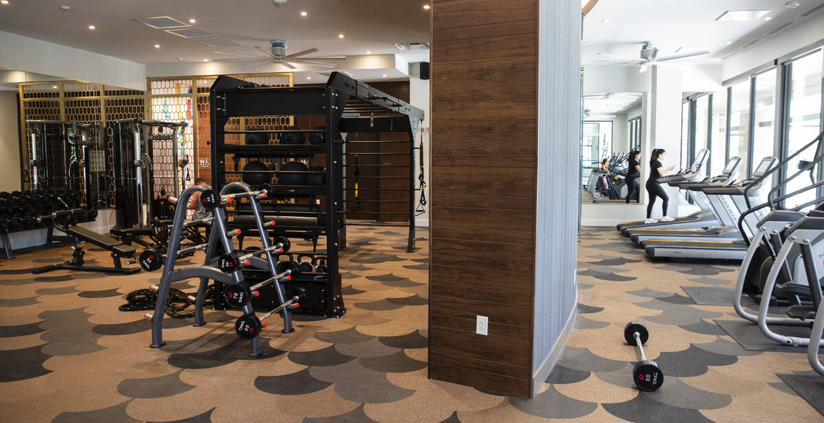 A gym at Auric Symphony Park, the first luxury multifamily residential community at Symphony Pa ...