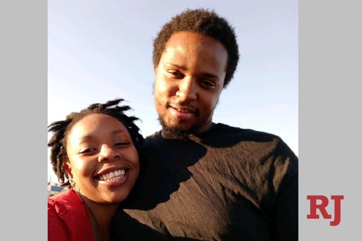Michael Myers smiles with his wife, Desiree Robinson. Myers' family said he was shot and killed ...