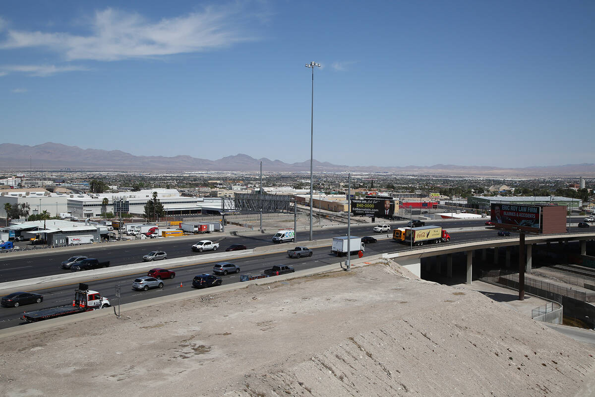 The U.S. Highway 95 northbound Casino Center Boulevard on-ramp in downtown Las Vegas is set to ...