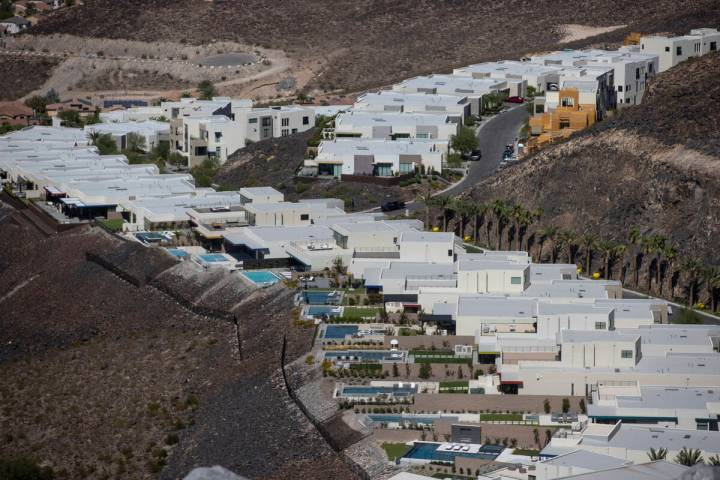 Views from SkyVu, a planned luxury housing project in Henderson's MacDonald Highlands community ...