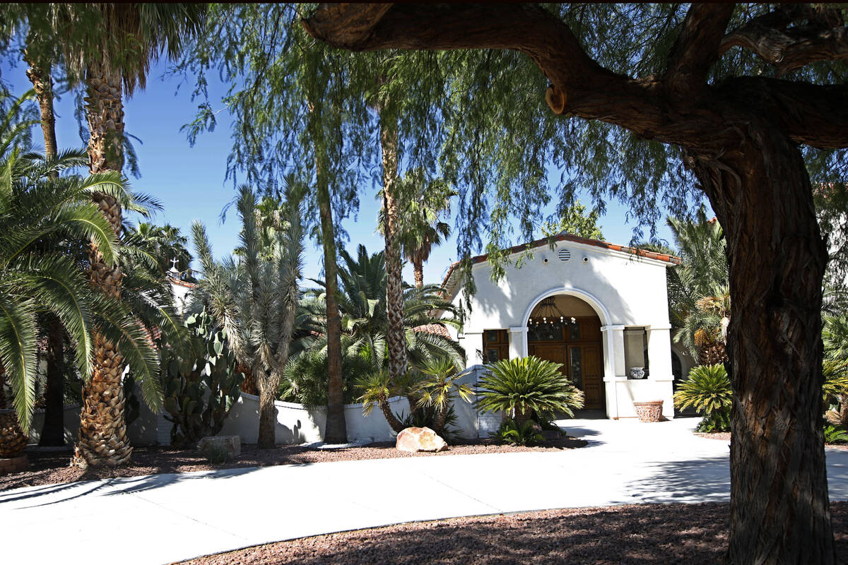 A Las Vegas house at 1250 Shadow Lane, Tuesday, Sept. 21, 2021, in Las Vegas. The house was own ...