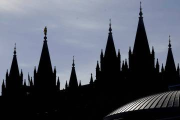 The Salt Lake Temple of The Church of Jesus Christ of Latter-day Saints is seen in Salt Lake Ci ...