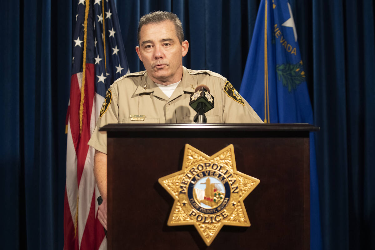 Assistant Sheriff Andrew Walsh gives a news conference regarding a police shooting on Wednesday ...