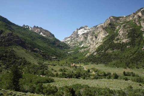 The Lamoille Canyon Scenic Byway in the Ruby Mountains just east of Elko is seen in this 2012 f ...