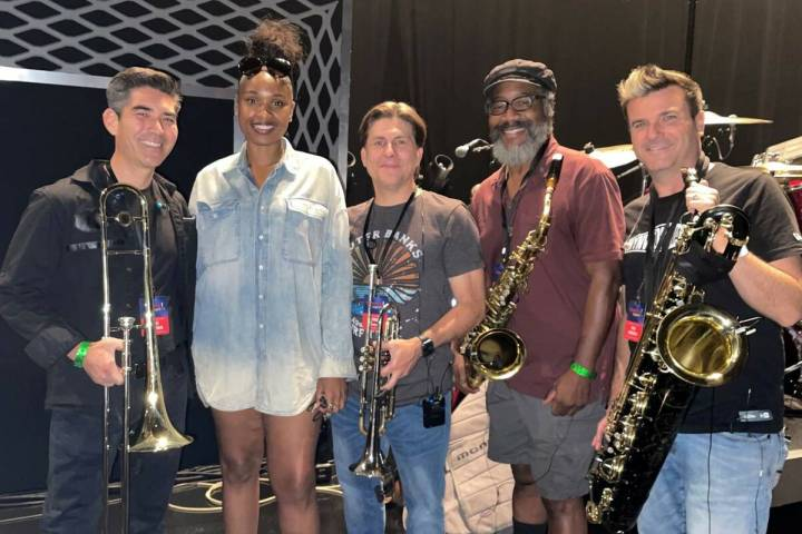 Nathan Tanouye, Jennifer Hudson, Daniel Falcone, Phil Wigfall and Eric Tewalt are shown at Mich ...