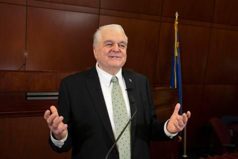 Gov. Steve Sisolak, seen in January 2021. (Governor's office)
