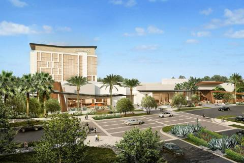 A rendering of the proposed Durango hotel-casino in the southwest Las Vegas Valley. (Station Ca ...