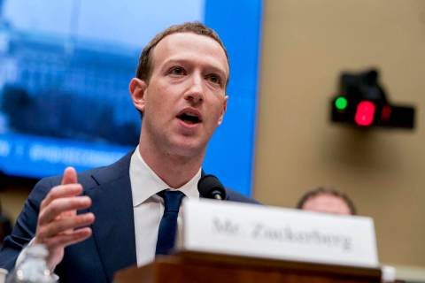 FILE - In this April 11, 2018, file photo, Facebook CEO Mark Zuckerberg testifies before a Hous ...
