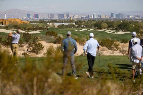 The view from the Summit Club golf course in Las Vegas, Wednesday, Oct. 13, 2021. (Erik Verduzc ...