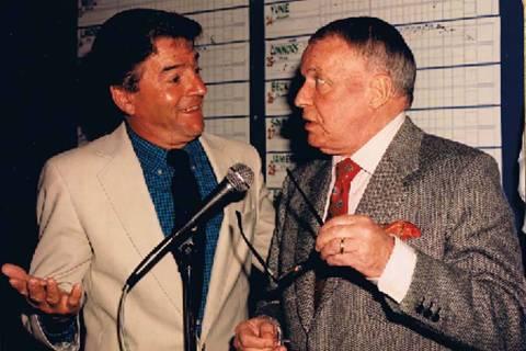 Tom Dreesen, show in an undated photo with Frank Sinatra, headlines Italian American Club Showr ...