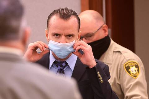 Michael Rusk, 28, arrives in the courtroom for the verdict in his murder trial at the Regional ...