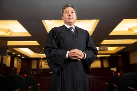 North Las Vegas Municipal Court Judge Chris Lee poses fora portrait at the Municipal Court in N ...