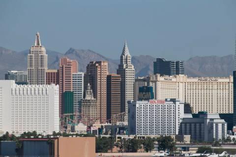 The Las Vegas Strip skyline. Richard Brian Las Vegas Review-Journal @vegasphotograph