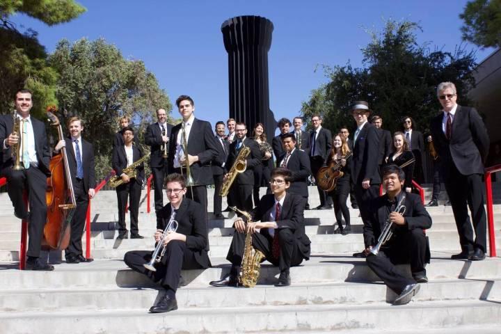 UNLV Jazz Ensemble I, co-winner of the DownBeat Student Music Awards' Large Jazz Ensemble Gradu ...