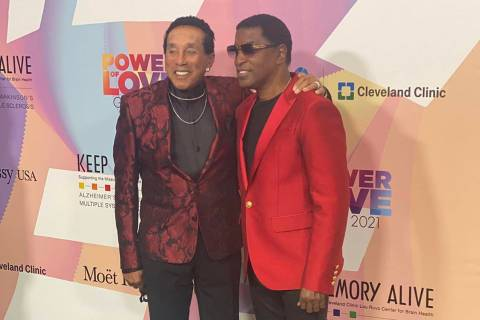 """Smokey Robinson and Kenny """"Babyface"""" Edmonds are shown on the red carpet of the 25th Keep Memor ..."""