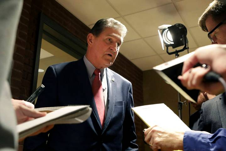 Sen. Joe Manchin. (AP Photo/Raymond Thompson)