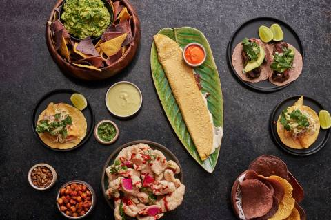 A selection of dishes at Casa Playa. (Bill Milne)